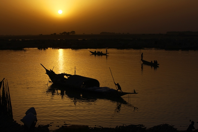 river, niger, mali, sunset mali, davor rostuhar