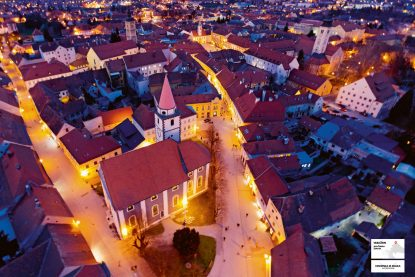 varazdin poster, posters, croatia from above