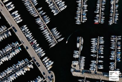 biograd marina, croatia from above